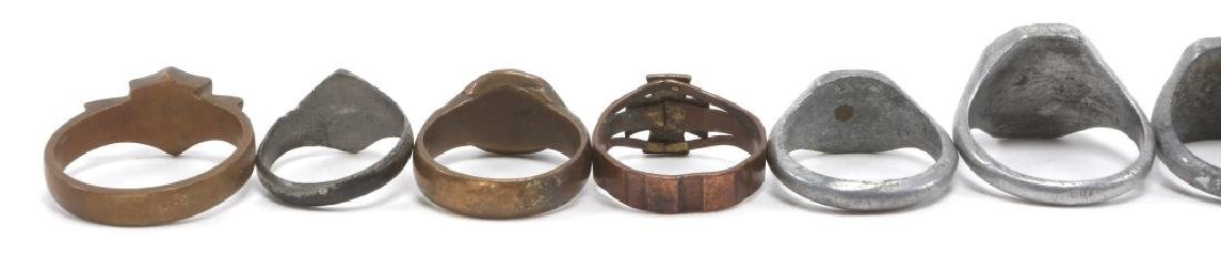WWI WORLD MILITARY SOLDIER RING LOT OF 12 - 6