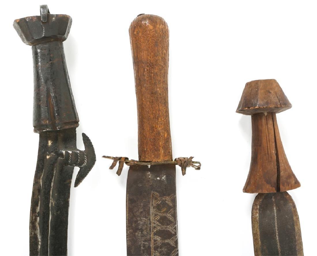 AFRICAN CONGO SWORD LOT OF 3 - 2