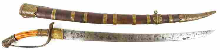 VIETNAMESE GUOM SABER WITH STAG HANDLE