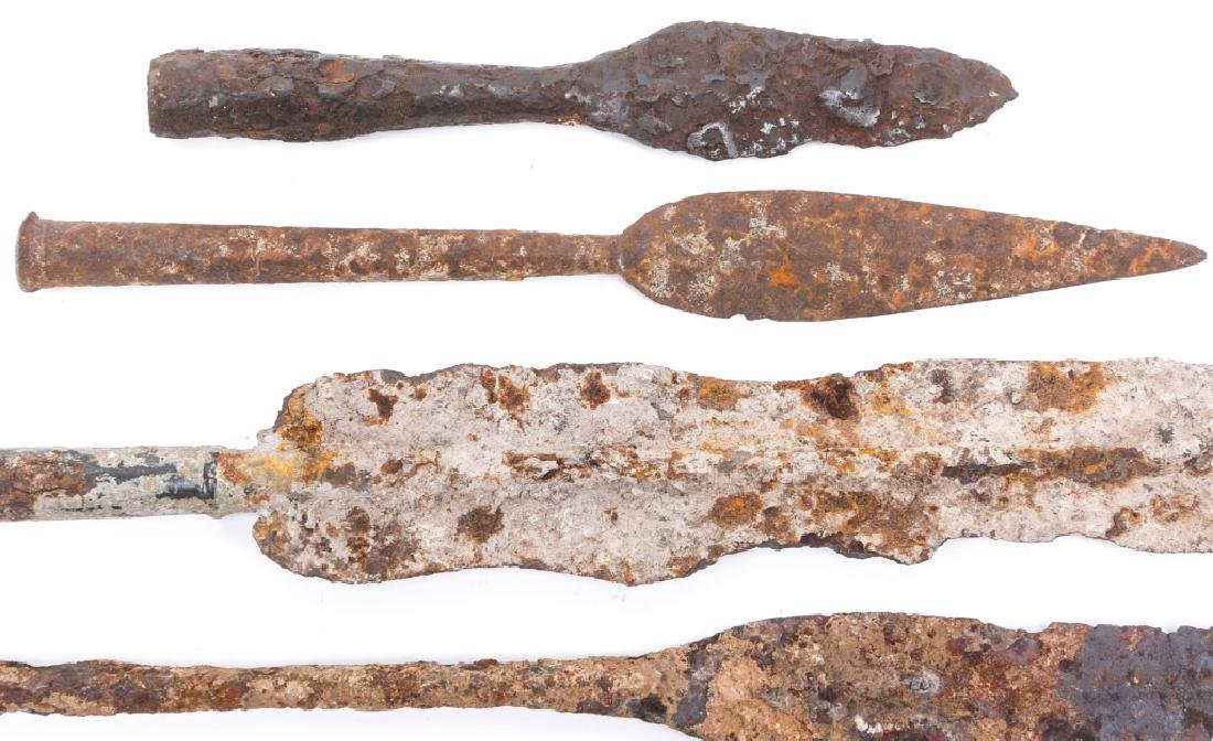 EARLY DUG SPEAR HEAD LOT OF 5 - 2