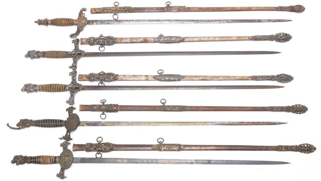 FRATERNAL SWORD LOT OF 5
