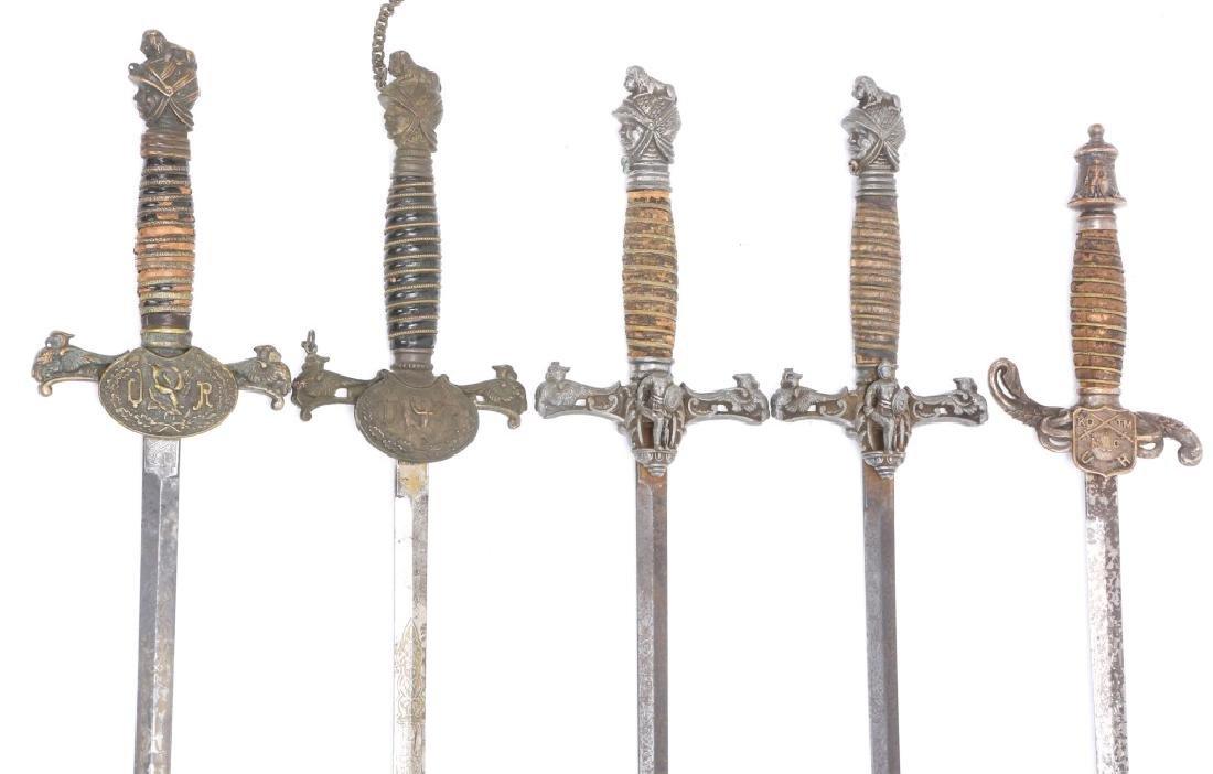FRATERNAL SWORD LOT OF 5 - 3
