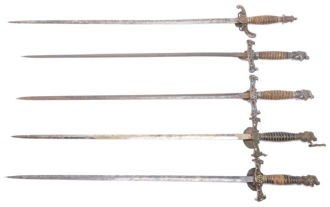 FRATERNAL SWORD LOT OF 5 - 6