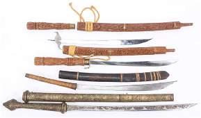 BURMESE & VIETNAMESE SWORD LOT OF 4