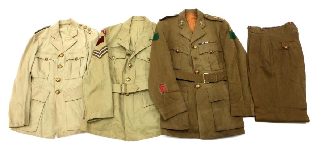 WWII ROYAL CANADIAN ARMY UNIFORM MIXED LOT