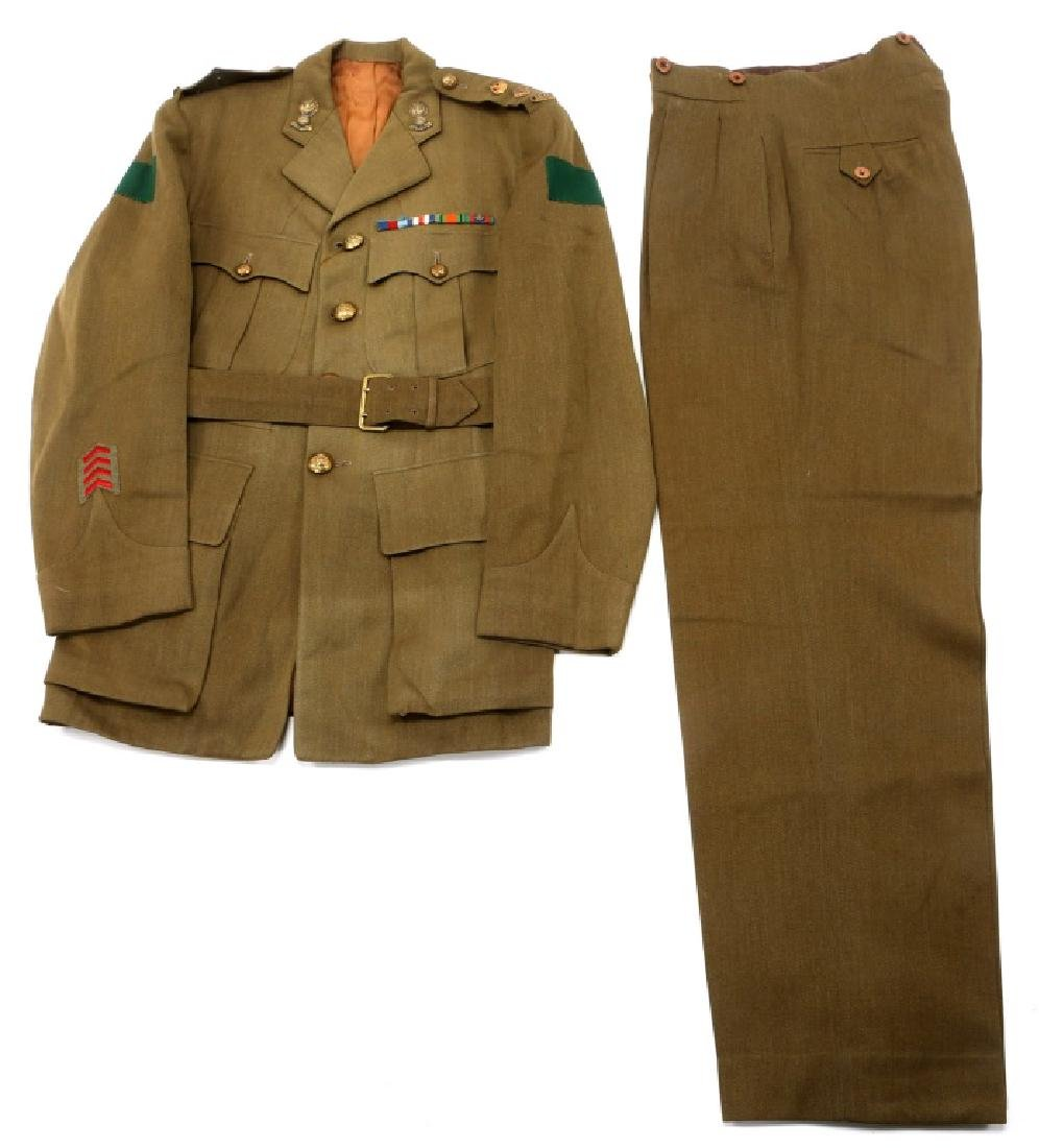 WWII ROYAL CANADIAN ARMY UNIFORM MIXED LOT - 8