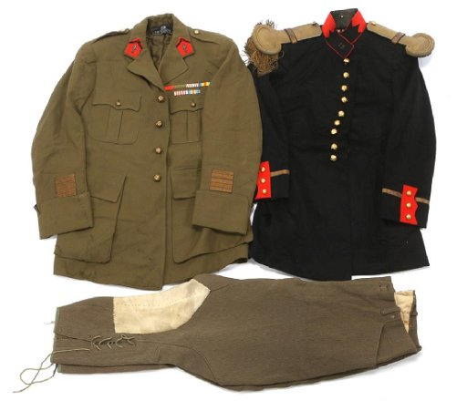 WWII FRENCH ARMY ARTILLERY OFFICER UNIFORM LOT