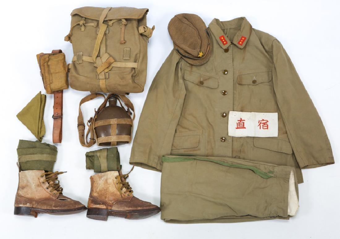 WWII JAPANESE ARMY UNIFORM GROUPING