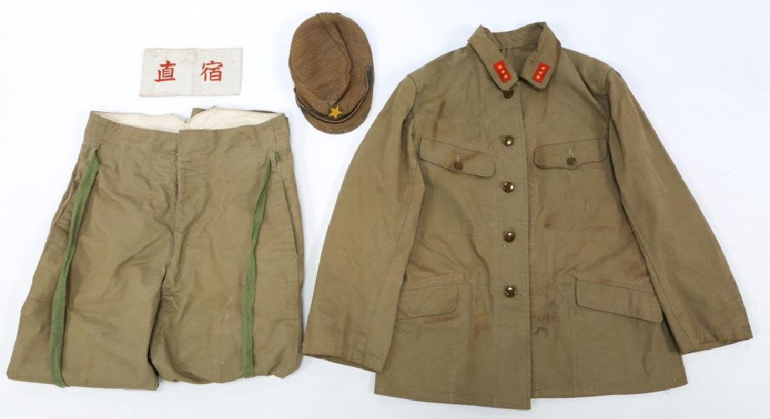 WWII JAPANESE ARMY UNIFORM GROUPING - 2
