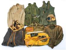WWII US ARMY AIR FORCE PILOT FLIGHT GEAR MIXED LOT