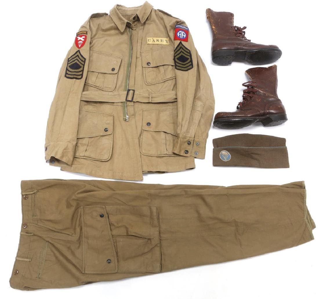 WWII US PARATROOPER 82nd AIRBORNE NAMED UNIFORM