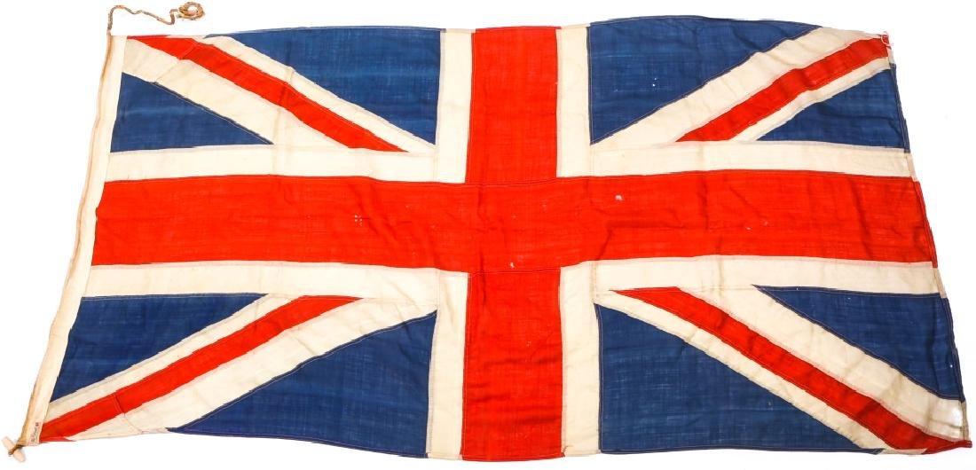 WWII BRITISH UNION JACK FLAG LOT OF 3 - 7