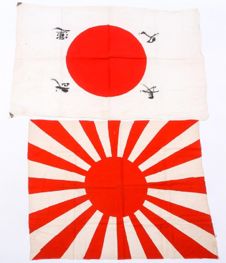 WWII JAPANESE FLAG LOT OF 2