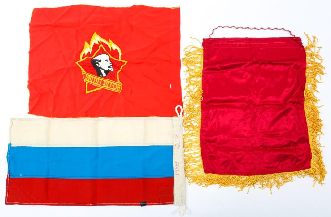SOVIET FLAG MIXED LOT OF 4 - 7
