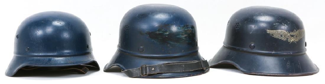 WWII GERMAN LUFTSCHUTZ HELMET LOT OF 3