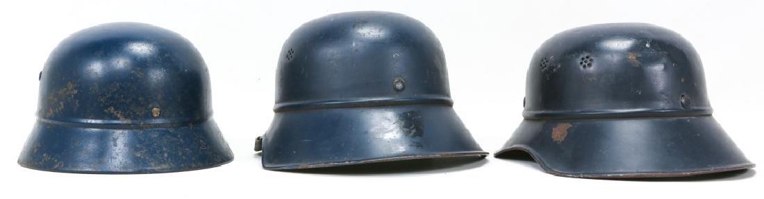 WWII GERMAN LUFTSCHUTZ HELMET LOT OF 3 - 2