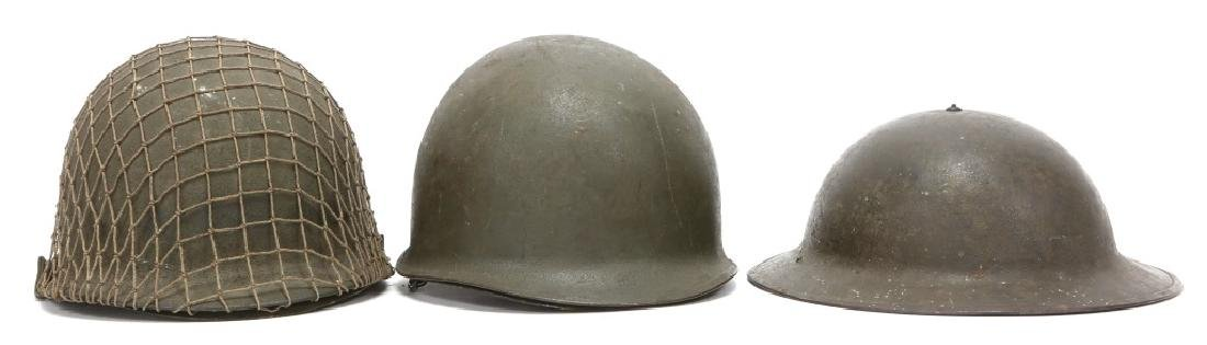 US ARMY M1917A1 & M1 COMBAT HELMET LOT OF 3