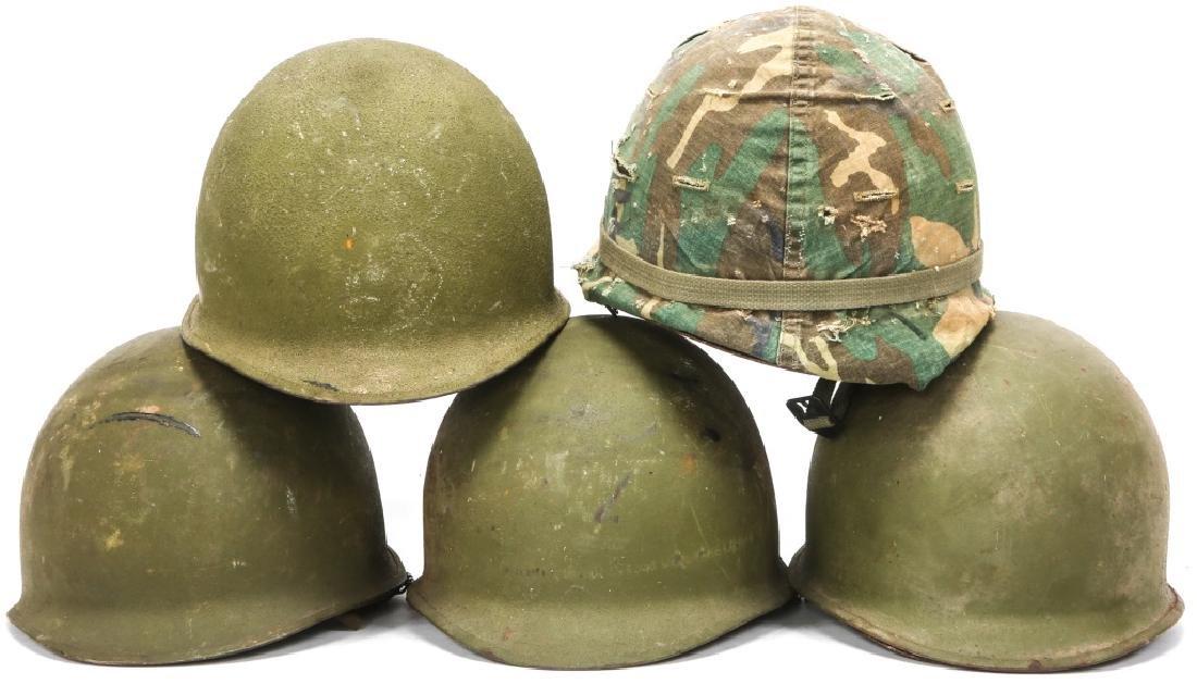 KOREAN & VIETNAM WAR M1 & M5 HELMET & LINER LOT - 2