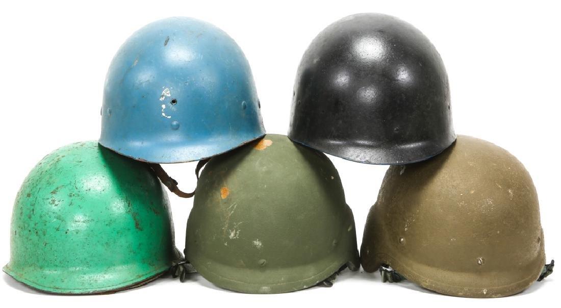 KOREAN & VIETNAM WAR M1 & M5 HELMET & LINER LOT - 4