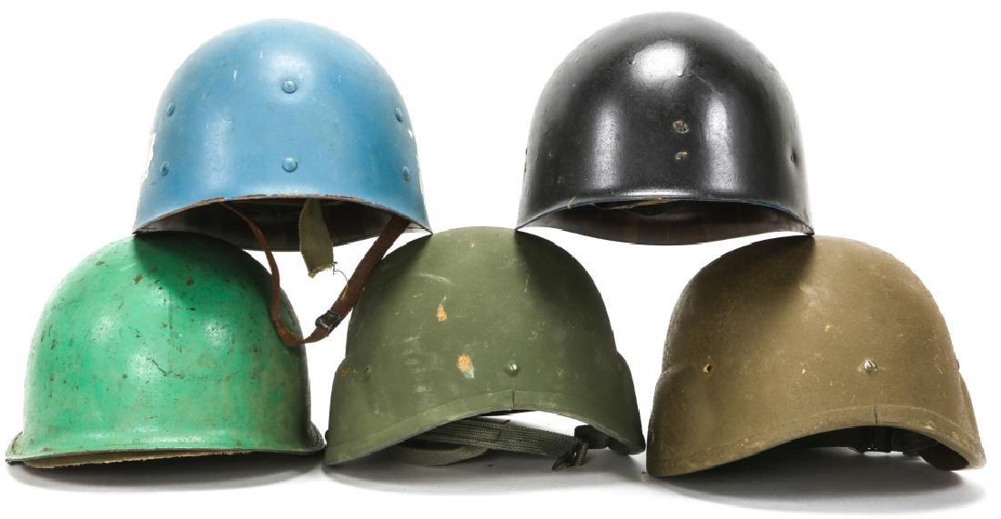 KOREAN & VIETNAM WAR M1 & M5 HELMET & LINER LOT - 5