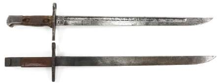 JAPANESE TYPE 30 ARISKA M1897 BAYONET LOT OF 2