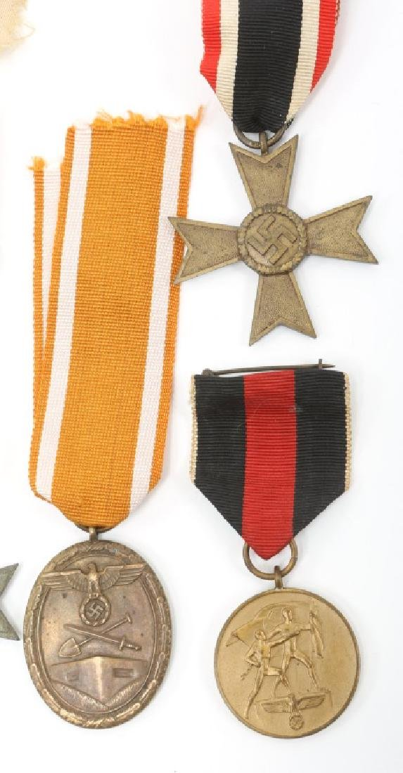 WWII GERMAN MEDAL AND PATCH LOT OF 9 - 3
