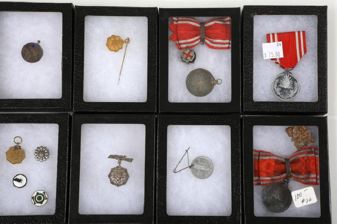 WWII JAPANESE ARMY MEDALS & PINS LARGE LOT - 3