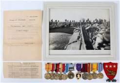 WWII USMC III AMPHIBIOUS MEDAL BAR & PHOTO GROUP
