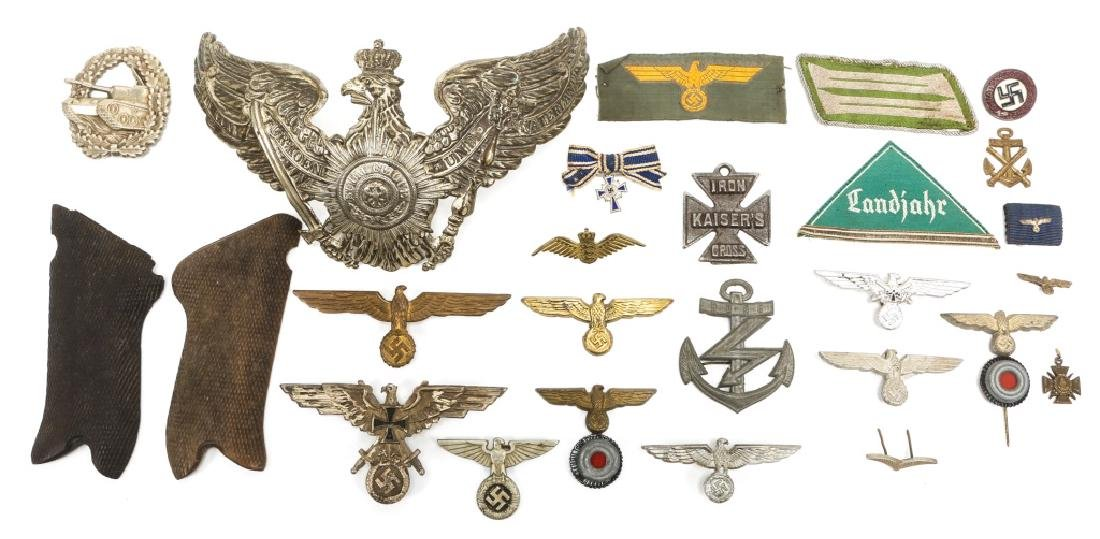 WORLD WAR ERA GERMAN BADGE AND INSIGNIA LOT