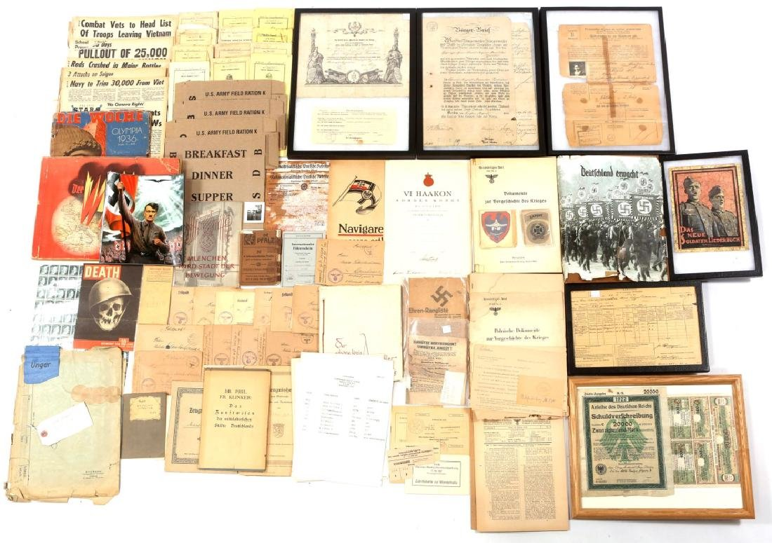 WWII GERMAN LITERATURE & DOCUMENTS