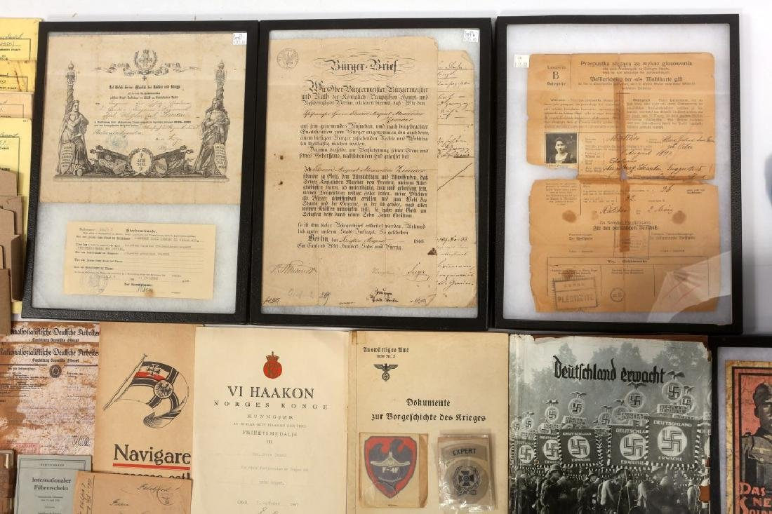 WWII GERMAN LITERATURE & DOCUMENTS - 3