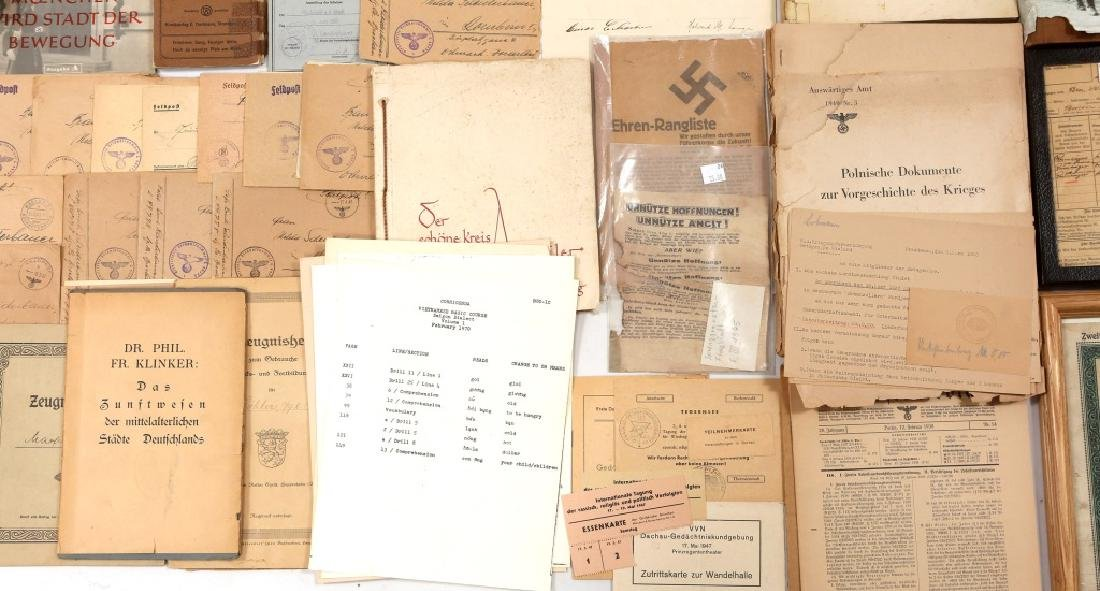 WWII GERMAN LITERATURE & DOCUMENTS - 8