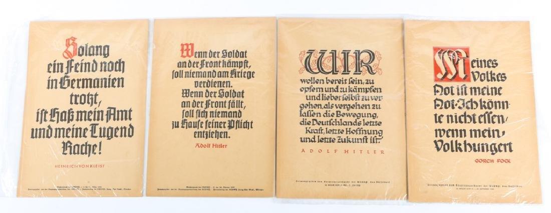 WWII GERMAN NSDAP PROPAGANDA POSTER LOT OF 4