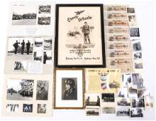 WWII GERMAN PHOTO  DOCUMENT MIXED LOT