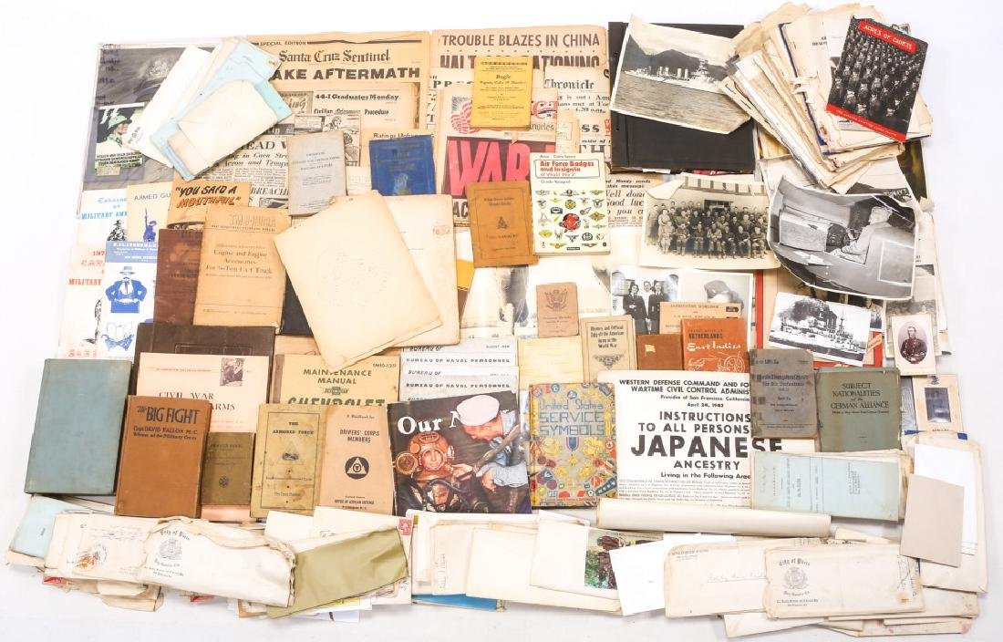 WORLD WAR ERA PHOTOS, NEWSPAPERS, BOOKS, & LETTERS