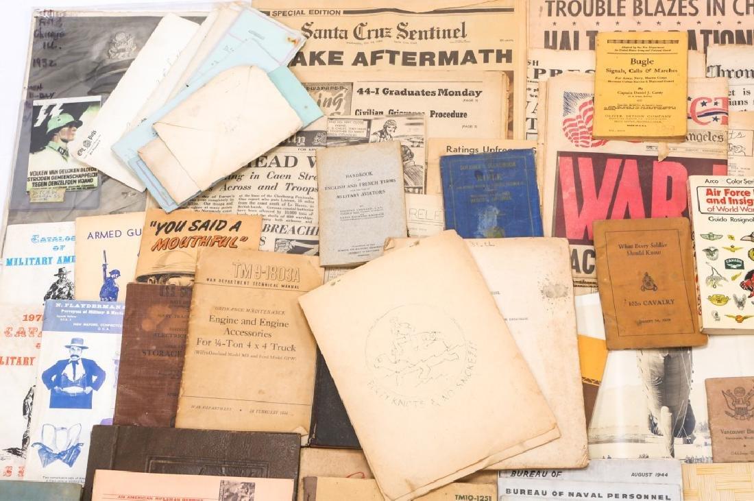 WORLD WAR ERA PHOTOS, NEWSPAPERS, BOOKS, & LETTERS - 2