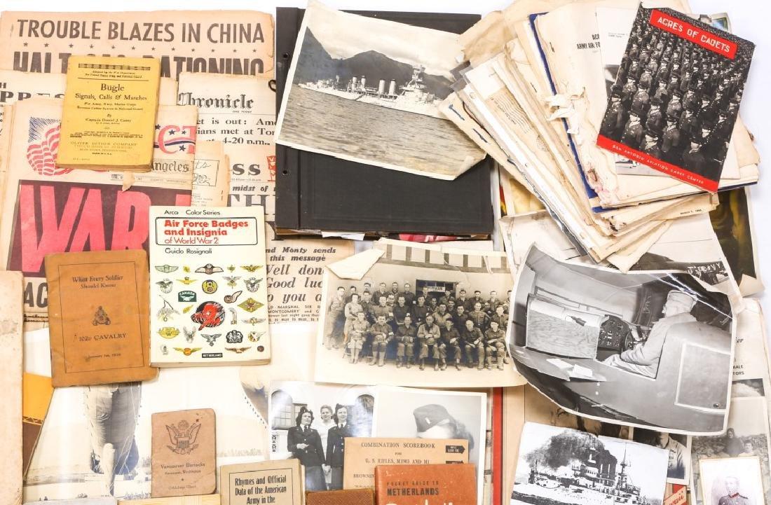 WORLD WAR ERA PHOTOS, NEWSPAPERS, BOOKS, & LETTERS - 3