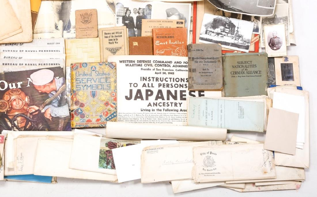 WORLD WAR ERA PHOTOS, NEWSPAPERS, BOOKS, & LETTERS - 5