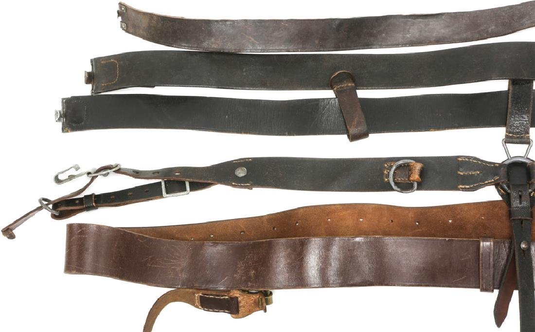 WWII GERMAN BELTS & COMBAT SUSPENDERS MIXED LOT - 2