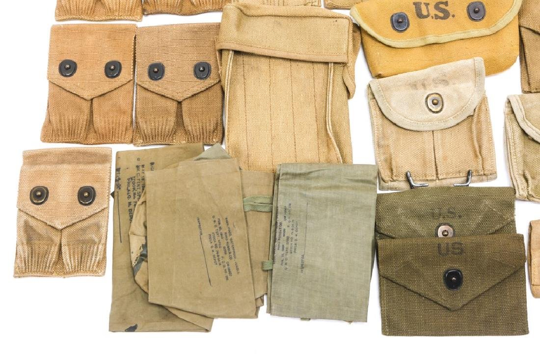 WWI & WWII CARTRIDGE POUCH LOT - 4