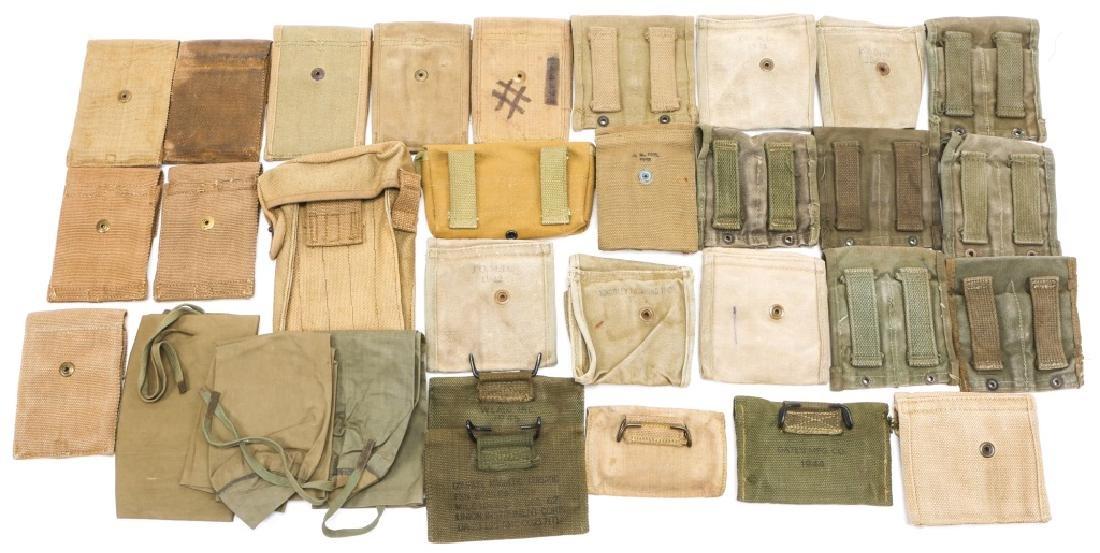 WWI & WWII CARTRIDGE POUCH LOT - 6
