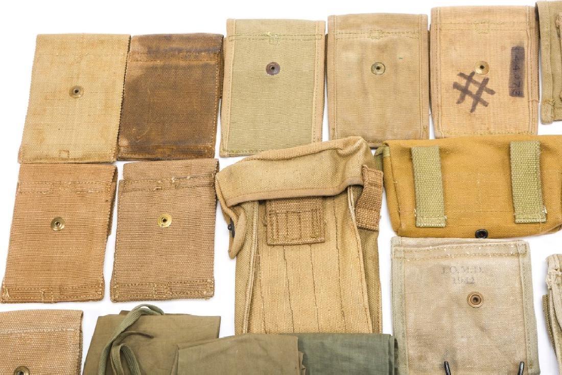 WWI & WWII CARTRIDGE POUCH LOT - 7
