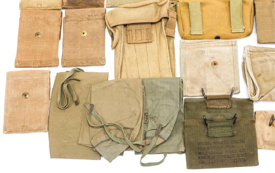 WWI & WWII CARTRIDGE POUCH LOT - 9