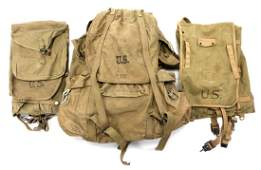 WWII US MOUNTAIN TROOPS BACKPACK  HAVERSACK LOT