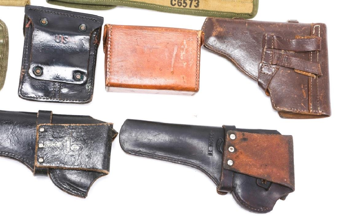 MILITARY HOLSTERS, POUCHES, ROD CLEANERS MIXED LOT - 10