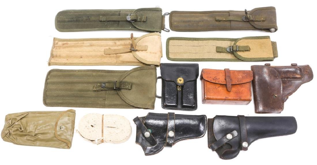 MILITARY HOLSTERS, POUCHES, ROD CLEANERS MIXED LOT