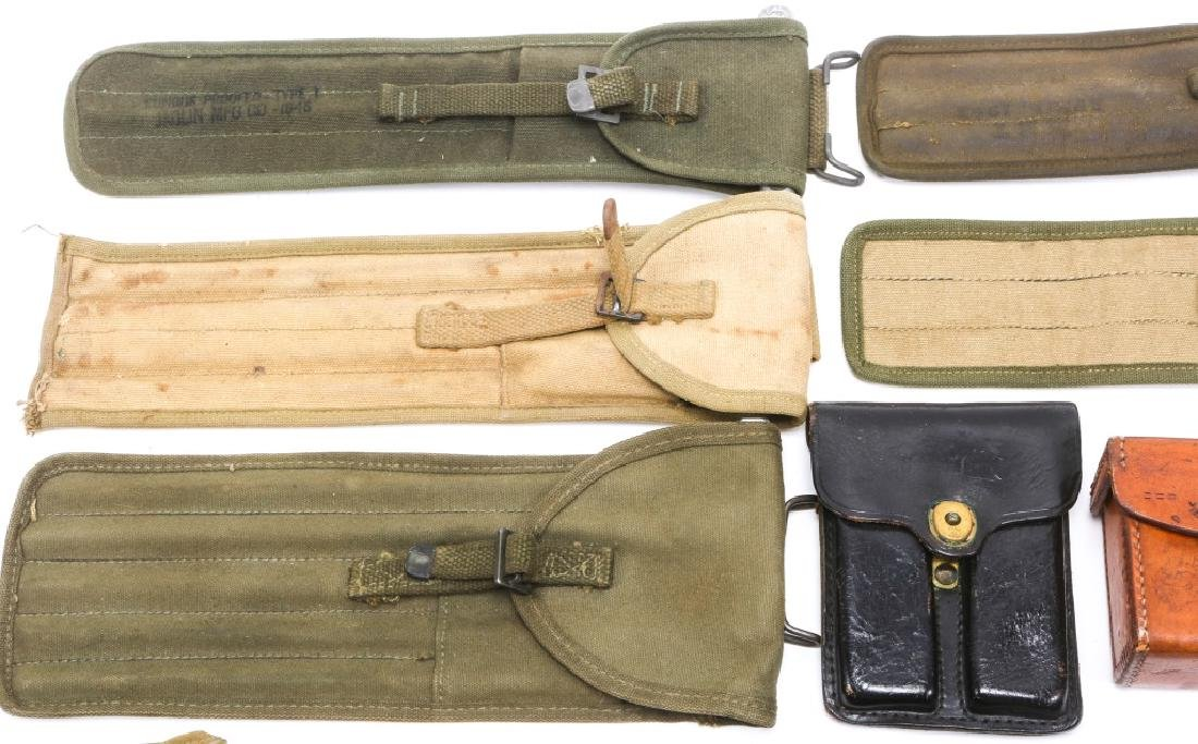 MILITARY HOLSTERS, POUCHES, ROD CLEANERS MIXED LOT - 2