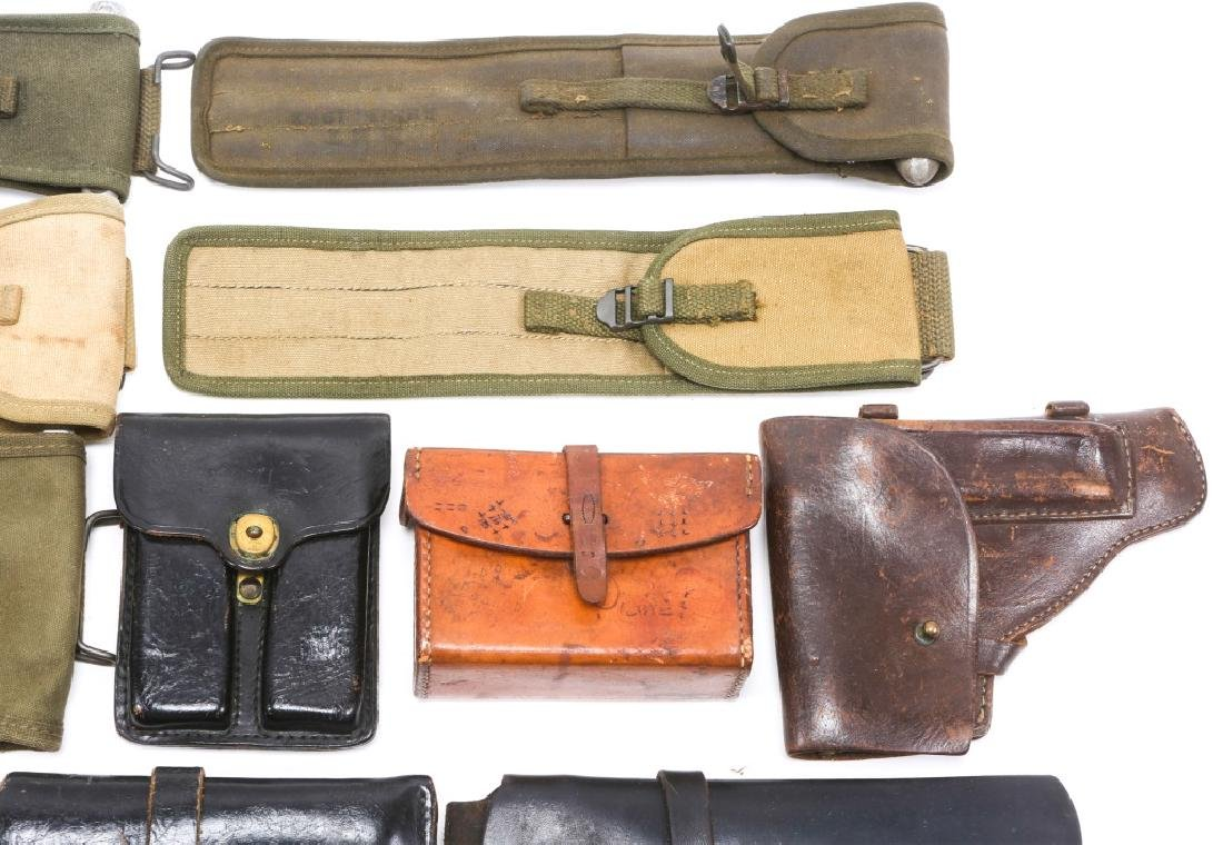 MILITARY HOLSTERS, POUCHES, ROD CLEANERS MIXED LOT - 3