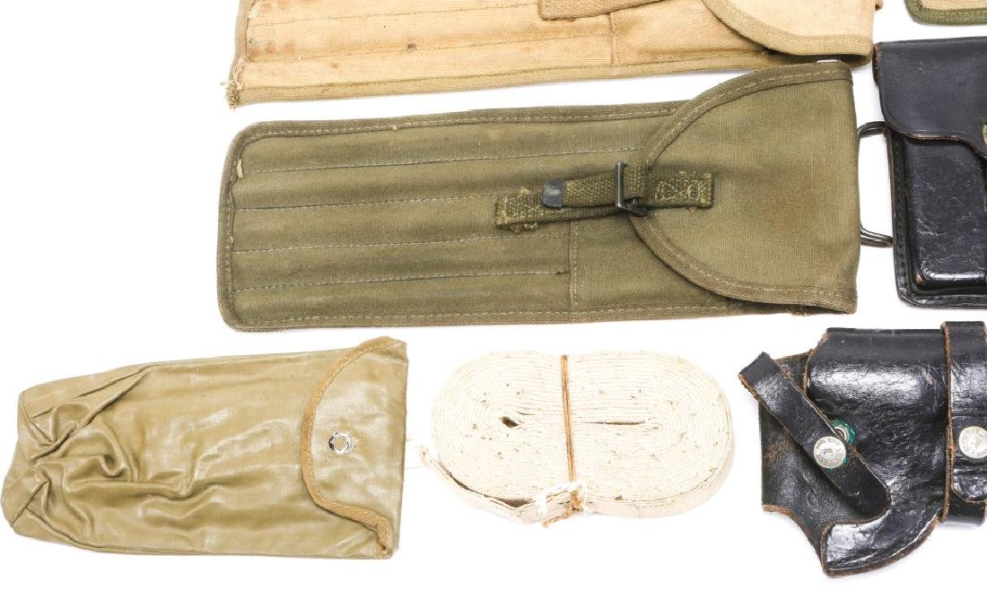 MILITARY HOLSTERS, POUCHES, ROD CLEANERS MIXED LOT - 4
