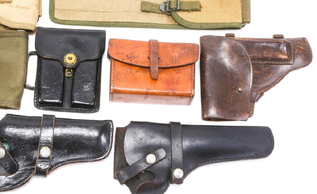 MILITARY HOLSTERS, POUCHES, ROD CLEANERS MIXED LOT - 5